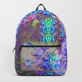 Chrome Psychedelic Symmetry Totem Backpack