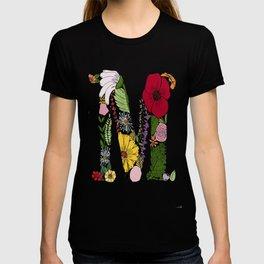 Floral Letter M T-shirt