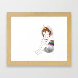 unicorn boy Framed Art Print