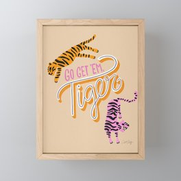 Go Get 'Em Tiger – Melon Framed Mini Art Print