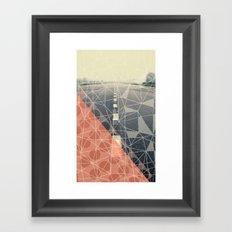 Earn the Downhill Framed Art Print