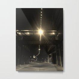Alley Lights  Metal Print