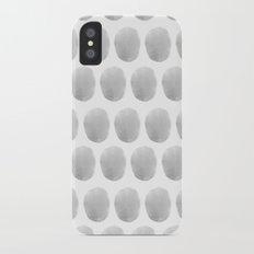 Watercolour polkadot grey Slim Case iPhone X