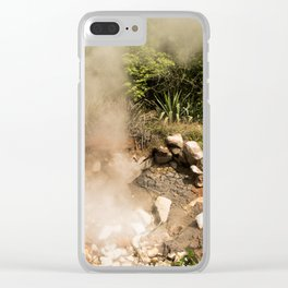 Steamy Volcano Outlet in Costa Rica Clear iPhone Case