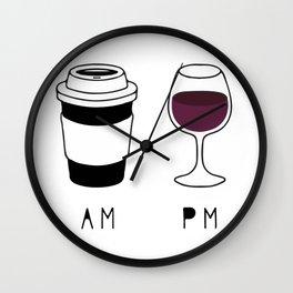 Coffee and Wine Wall Clock