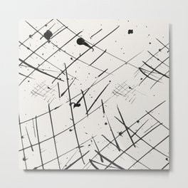 Grid + Splat Metal Print