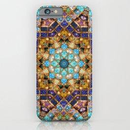 Blue Godess Mandala iPhone Case