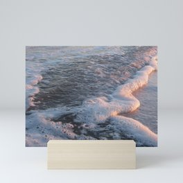 Sea Foam at Sunset Mini Art Print