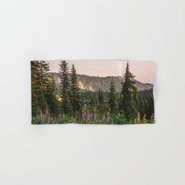 Mount Rainier Wildflower Adventure VII - Pacific Northwest Mountain Forest Wanderlust Hand & Bath Towel