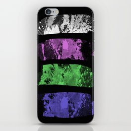 Rank Of Colour I - Abstract, textured, pastel themed artwork iPhone Skin