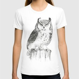 My great horned owl: Nuit T-shirt