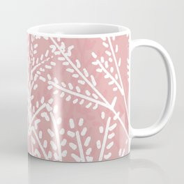 Pink Leaves Coffee Mug
