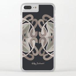 Safe Mandala x2 - Black Brown Clear iPhone Case