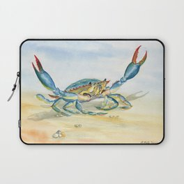 Colorful Blue Crab Laptop Sleeve