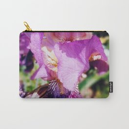 Purple Striped Bearded Iris Carry-All Pouch