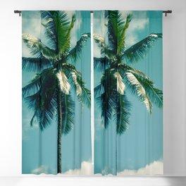 Niu Hawaiian Tropical Coconut Palm Tree Keanae Maui Hawaii Blackout Curtain