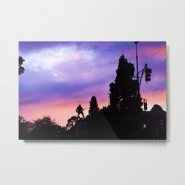 Shot in Color Metal Print