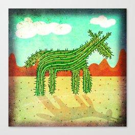 Cactus Unicorn Canvas Print