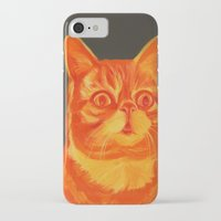 lil bub iPhone & iPod Cases featuring Gar-bub by Jen Mann