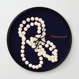Venetian pearl Wall Clock