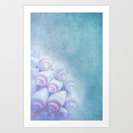 BELLA BLEU - Still life with sea shells Art Print