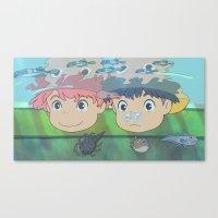 ponyo Canvas Prints featuring Ponyo by Susan Lewis