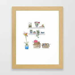 Watercolor Moving Day Framed Art Print