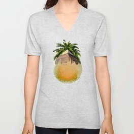 Palm Pyramid Desert Spirit Unisex V-Neck