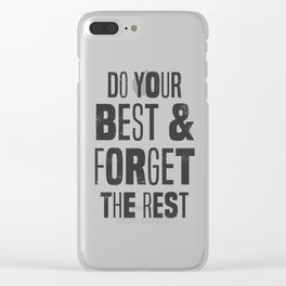 do your best Clear iPhone Case