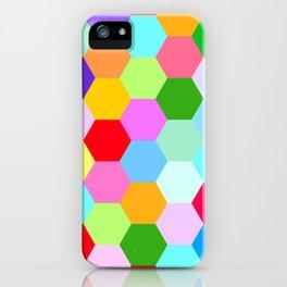 Multicoloured Hexagon Pattern iPhone Case