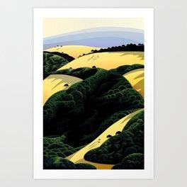 Ridge Trail View Art Print