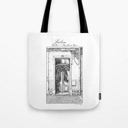Old Door-Urban Landscape-Victorian illustration style-Lisbon-Portugal Tote Bag