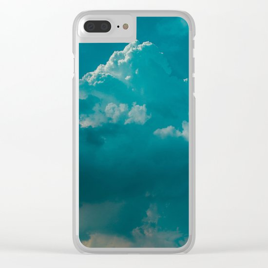 up in the clouds Clear iPhone Case