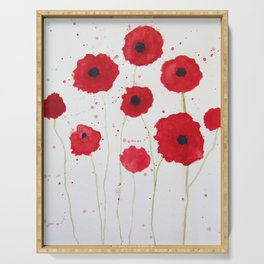 Poppies II Serving Tray