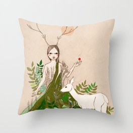 Mori girl Throw Pillow