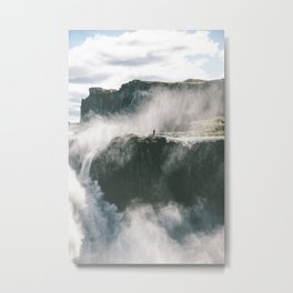 The stranger at Dettifoss Metal Print