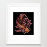 koi fish Framed Art Prints featuring Koi Fish by Absorb81