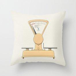 Tilt scale Beta - Libela Throw Pillow