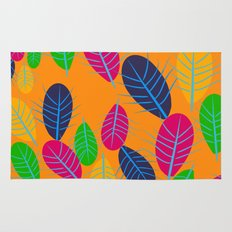 Fall Leaves Pop Pattern Design Rug