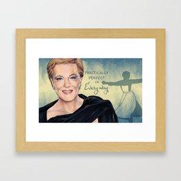 Julie Andrews Framed Art Print