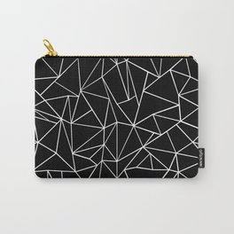 Abstraction Outline Black and White Carry-All Pouch