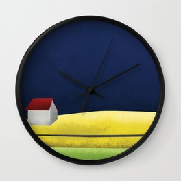 Simple Housing   A night in the life Wall Clock