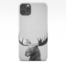 Moose - Black & White iPhone Case