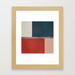 Five colors Framed Art Print
