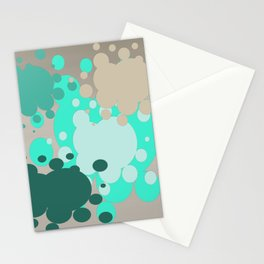 Paint splats in green Stationery Cards