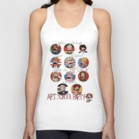 hetalia Tank Tops featuring Art School Party by invisibleinnocence