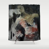 imagerybydianna Shower Curtains featuring ritual; carousel thoughts by Imagery by dianna