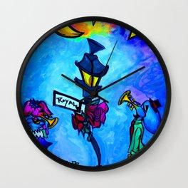 Jazz elephants on Royal St. Wall Clock