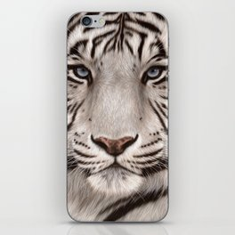 White Tiger Painting iPhone Skin