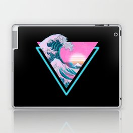 Vaporwave Aesthetic 80's 90's Great Wave Off Kanagawa Laptop & iPad Skin
